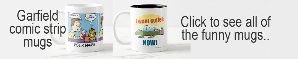 funny mugs garfield